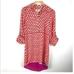 Julie Brown Red & Pink dress. Size 6